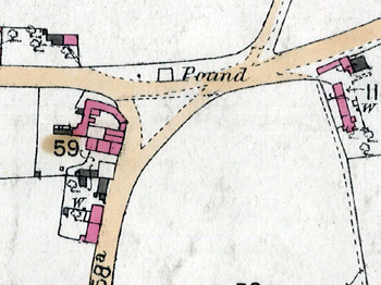 The pound marked on a map of 1884