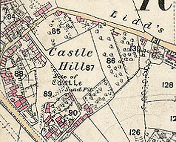 Castle Hill on a map of 1883