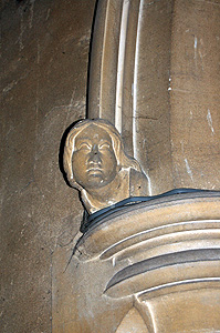 Head on the north side of the chancel arch June 2011