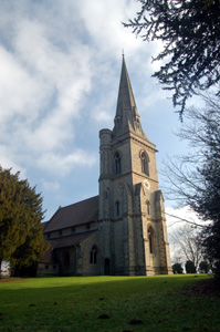 The church from the north-west January 2011