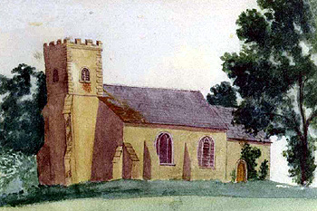 The church in 1865 by an unknown artist