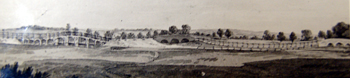 Tempsford Bridge about 1820 from a painting by Fisher [X67/934/60]