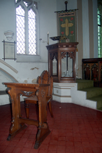 The pulpit and reading desk March 2010