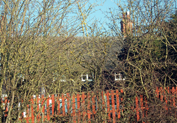 All that can be seen of 18 and 20 from Broughton Road January 2011