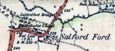 The Primitive Methodist chapel shown on map of about 1880