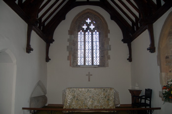 The chancel looking east January 2011