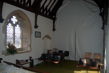 The chancel looking south-west January 2011