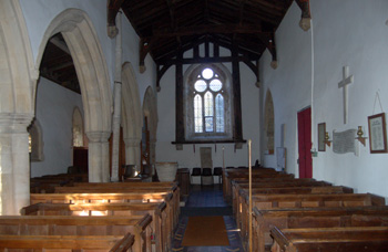 The nave looking west January 2011
