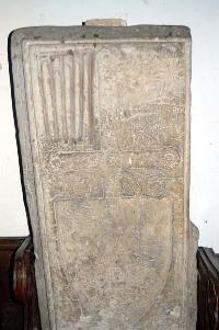 Tombstone in the nave February 2007