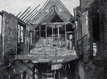 Fire damage at Saint Francis Home 1908