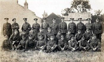 Great war soldiers from various regiments