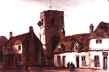 Shefford High Street about 1820