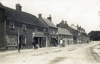 The New Inn and Northbridge Street about 1910 - picture courtesy of Howard Webb