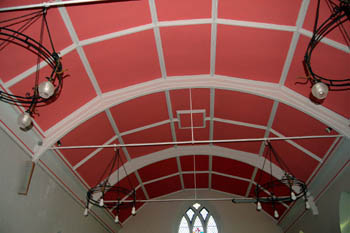 pink roof of nave January 2008