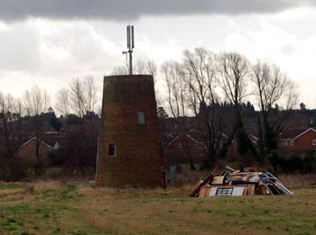 remains of windmill January 2008