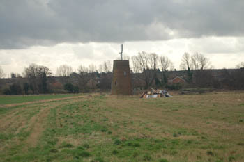 the remains of the windmill in the landscape January 2008