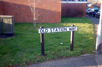 sign for Old Station Way February 2008