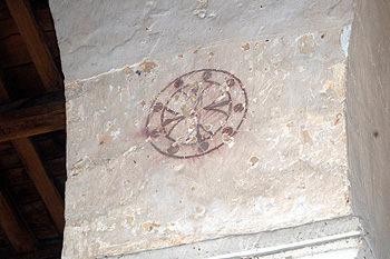 Design on a pillar separating the nave from the south aisle May 2011