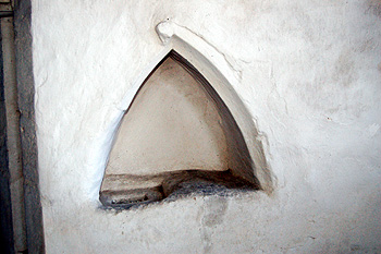 Niche in the north wall of the chancel May 2011