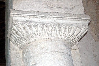 Norman capital at the east end of the north arcade May 2011