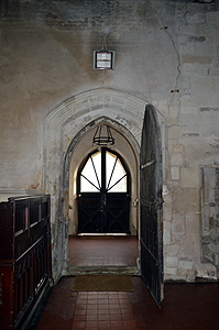 The south door from the interior March 2014