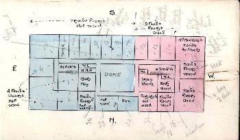 Sketch plan of the second storey of Wrest Park in 1927 [DV1-C248]