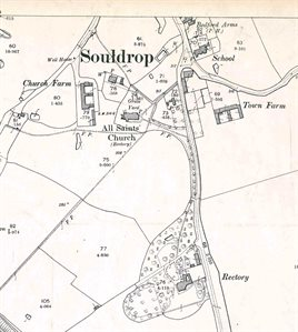 The southern part of the village in 1901