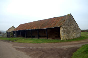 open barn at Wick End Farm December 2007