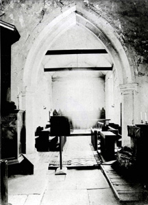 Looking into the chancel from the nave about 1890