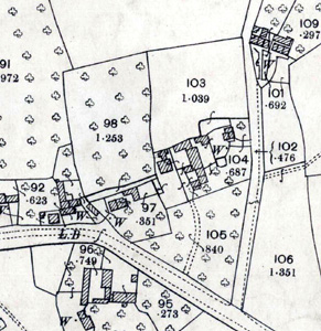 The area of Bury Farmhouse in 1901
