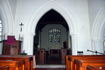 View into the chancel from the nave December 2008