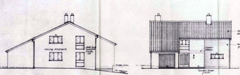 West and north elevations of the new vicarage 1965
