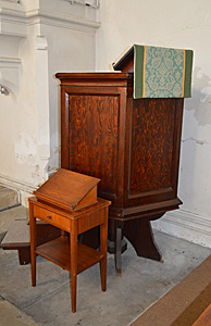 The pulpit and reading desk December 2016