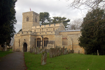 Stevington church from the south-east December 2008