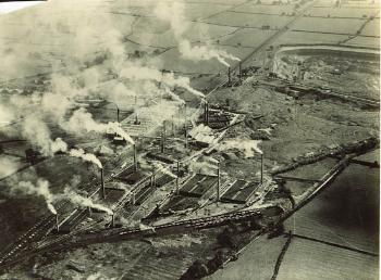 An aerial view of the brickworks in 1939 [Z41/LB10/1/2/24]