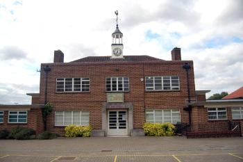 Photograph of Marston Vale Middle School in October 2007