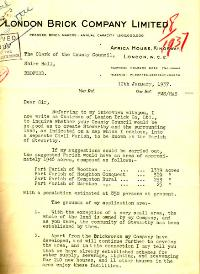 Sir Percy Malcolm Setwarts letter