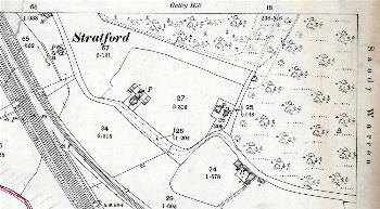 The southern part of Stratford in 1901