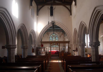 Studham church interior looking east November 2009