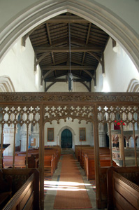 Studham church interior looking west November 2009