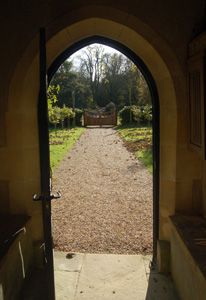 The view from the south porch November 2009