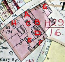 Home Farm on the survey map of 1926