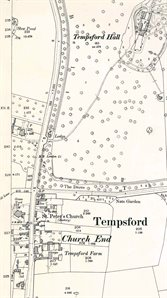 Church End and Tempsford Hall in 1901