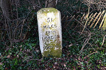 Milestone on the old Great North Road February 2016