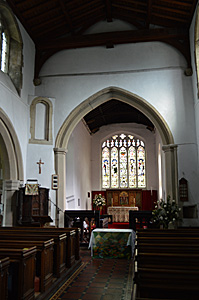 The chancel seen from the nave August 2016