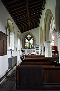 The north aisle looking east August 2016