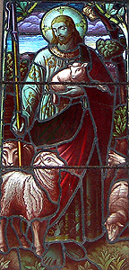 Christ the Good Shepherd from the south aisle east window September 2011