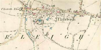 Church End and the village in 1884