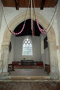 The chancel looking east from the crossing September 2011