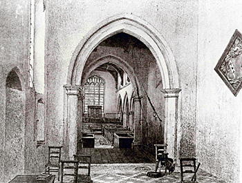 The interior of the church looking west about 1878 [Z50/122/44]
